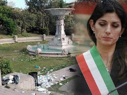 La Raggi oltre il ridicolo: «Colpa di Veltroni»  Villa Borghese, la foto del degrado fa il giro del mondo