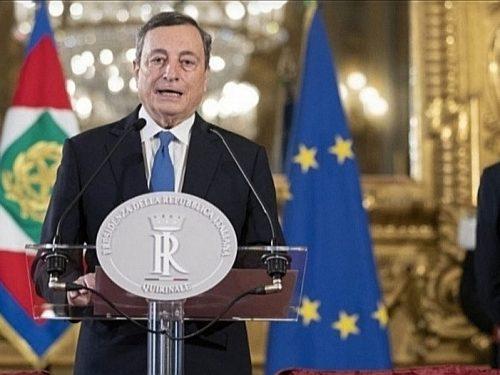 """Mario Draghi, il primo discorso da premier incaricato: """"Ora risposte all'altezza"""".Inizia con una cannonata a Conte: stop assistenzialismo"""
