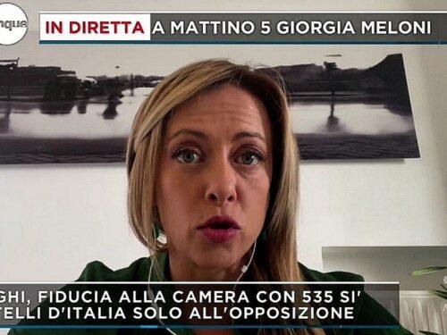 Giorgia Meloni FdI: «Bisogna fermare l'immigrazione illegale di massa, aspettiamo Draghi alla prova dei fatti»