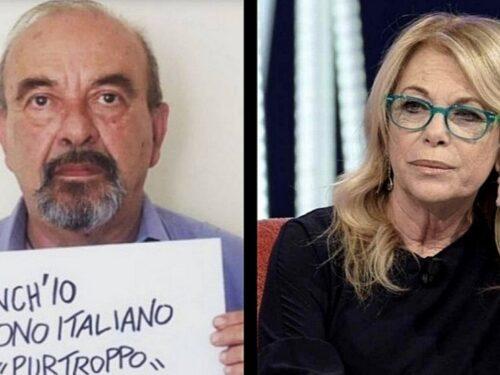 """Rita dalla Chiesa contro Vauro: """"Nessuno ti ha preso mai a calci. Cambia nazionalità"""""""