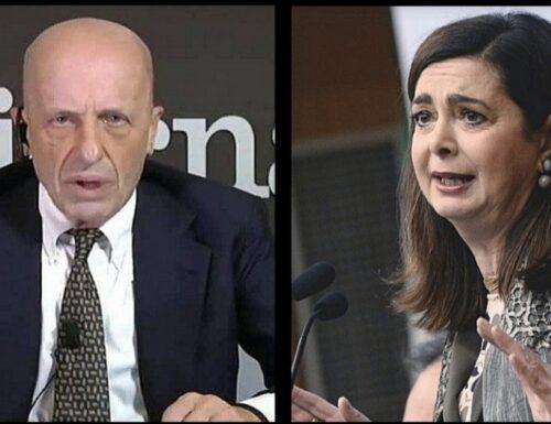 """""""Strapazzare le donne e non pagarle"""". Sallusti contro la Boldrini: """"Se fosse toccato alla Meloni…"""""""