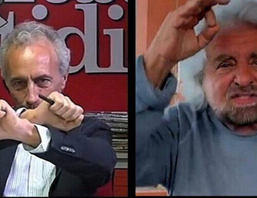 """""""Non c'è sentenza"""". Per Grillo Marco Travaglio diventa garantista"""