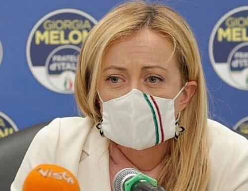 """Giorgia Meloni: """"Sul coprifuoco occasione persa. Ma il mio avversario è la sinistra, non Salvini"""""""