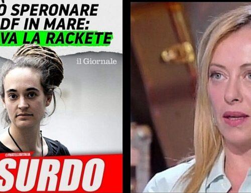 """La Rackete """"salvata"""", Giorgia Meloni: """"La Spagna schiera l'esercito, da noi chi umilia lo Stato la passa liscia"""""""