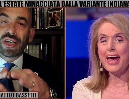 """Bassetti a Zona bianca, insulti ad Antonella Boralevi: """"Ma vaffanc*** ignorante, vergognati"""""""