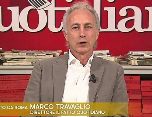 """Marco Travaglio senza vergogna: """"I successi di Draghi? Merito di Conte"""""""