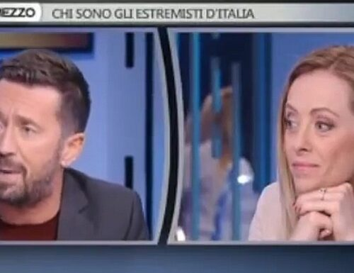 """La Meloni contro Andrea Scanzi: """"Dove vai da sola?"""", la drammatica figura di palta del giornalista a Otto e mezzo"""