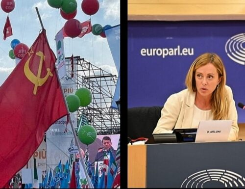 Meloni: «Alla manifestazione della Cgil sventolava la bandiera dell'Unione Sovietica»